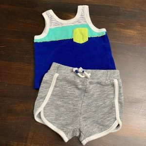 Cat & Jack Retro Tank and Shorts Outfit